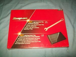 New Snap on 1 4 Thru 15 16 12 point Flank Drive Plus Wrench Set Soex01fmbrx