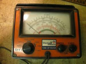 Vintage United Delco Tune Up Tester Tach Dwell Volt Meter