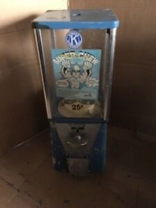 Restore Vending Machine With Pipe Stand Gumball Candy Toy Nut Oak A