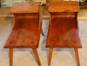 1950 S Genuine Cushman Colonial Creations End Tables Mid Century Wood