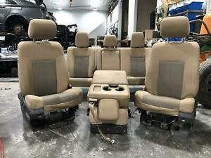 2012 Ford F250 F350 Super Duty Front Rear Driver Passenger Center Seat 2011 2016