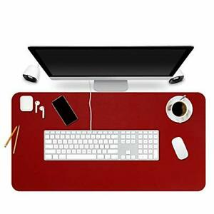 Bubm Desk Pad Protector 35 X 18 Pu Leather Desk Mat Blotters 35 X 18 red