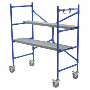 Werner 4 Portable Rolling Scaffolding Platform Adjustable Construction Painting