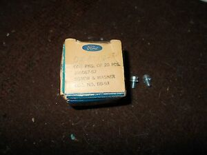 Nos 1960 1967 Ford 390hp 289hp 406 427 Dual Point Distributor Condensor Screws