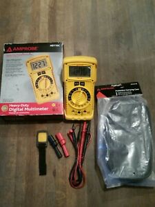 Amprobe Hd110c Heavy Duty Digital Multimeter 1000v With Leather Carrying Case