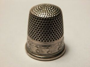 Antique Simons Bros Co Sterling Silver Thimble