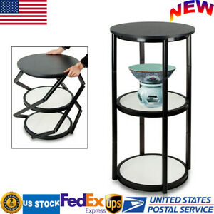 Portable 41 7 Round Aluminum Spiral Counter Display Case With Shelves