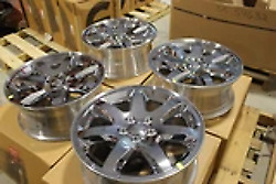 Jeep Liberty New Oem Wheels 52125165 18 Inch 7 Spoke Chrome Clad Set Of 4