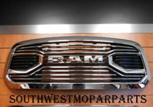 2013 18 Dodge Ram 1500 Chrome Grille Ram Letters Oem 6nm18sz0aa