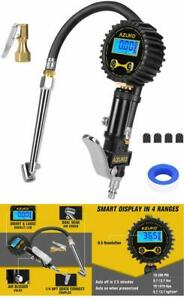 Digital Tire Inflator With Pressure Gauge And Dual Air Chuck 200 Psi Resolution