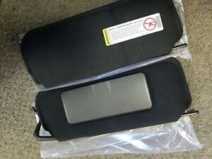 97 04 Corvette C5 Sun Visors Sunvisor With Vanity Mirrors New Pair With Decal