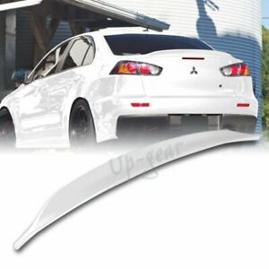 For 2008 2017 Mitsubishi Lancer Evo 10 Painted White Abs Rear Trunk Lid Spoiler
