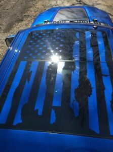 Ford Raptor Distressed Flag Roof Panel Sunroof Decal F 150 2015 2021