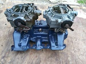 Cadillac Dual Quad Intake Manifold And Original Carburetors Vintage Tunnel Ram