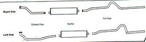 1949 1950 Oldsmobile 88 Dual Exhaust System Aluminized