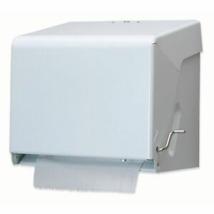 San Jamar T800wh White Crank Roll Paper Towel Dispenser