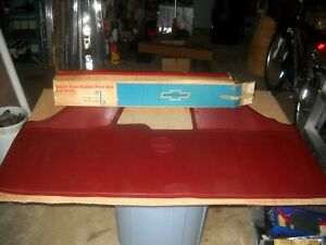 Nos 1965 69 Corvair Front Red Full Front Accessory Floor Mat 986761