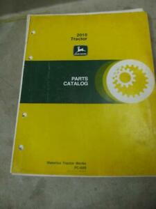John Deere 2010 Tractor Parts Catalog Manual Pc689