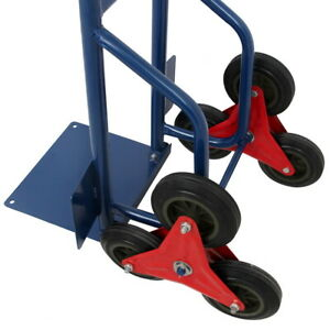 440lbs Stair Climbing Moving Dolly Hand Truck Warehouse Appliance Cart Blue
