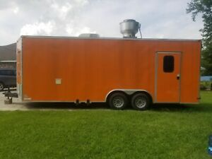 Very Clean 2016 8 X 22 Custom built Food Concession Trailer With Bathroom Fo