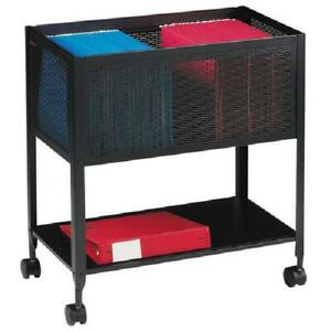 Filing Cart Drawers Office Hanging Files Folders Cabinet Storage Steel Black