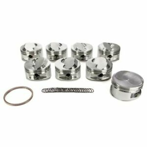 Je Pistons 182063 350 400 Small Block Dome Top Pistons Forged 4 125 Inch Bore