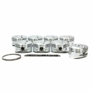 Je Pistons 182035 350 400 Small Block Dome Top Pistons Forged 4 145 Inch Bore
