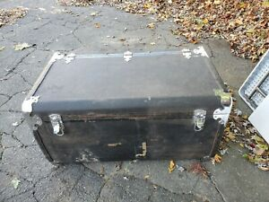 1929 1930 1932 Original Packard Motor Co Leather Luggage Trunk