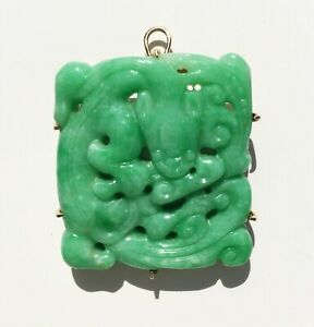 Apple Green Jadeite Dragon Pendant Brooch Purchased From Gumps In San Francisco