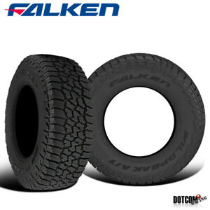 2 X Falken Wild Peak A t3w Lt265 70r17 E 121 118s All Terrain Any Weather Tires