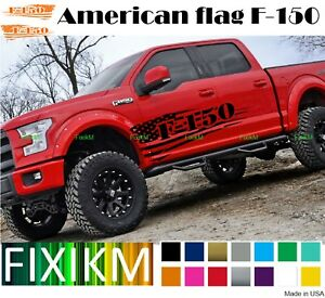 2x For Ford F 150 1948 2020 Pair Side Decals American Flag Graphics Custom F150