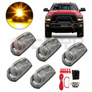 5x Led Cab Marker Top Amber Light For 2017 2019 Ford F250 Super Duty wiring