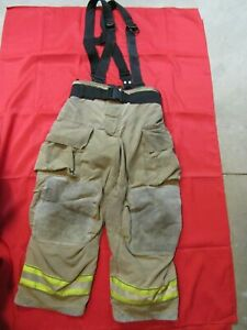 Mfg 2011 Globe Gxtreme 36 X 28 Firefighter Turnout Bunker Pants Suspenders
