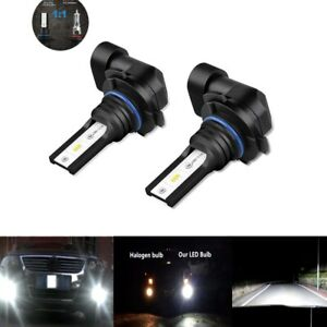 2x Fog Lights Bulbs For Ford Mustang Gt 2005 2012 6000k 80w H10 Csp Led Lamp