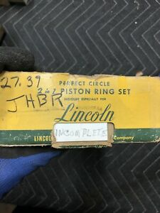 Lincoln Piston Rings Nos New Incomplete 1949 1950 1951