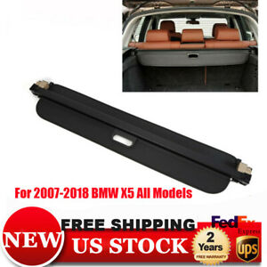 Cargo Cover For 2014 2018 Bmw X5 F15 Suv Black Trunk Boot Anti Theft Guard Shade