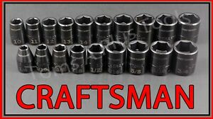 Craftsman Tools 19pc 3 8 Easy Read Sae Metric Mm Impact Socket Wrench Set