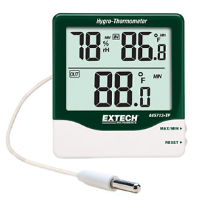 Extech 445713 tp Big Digit Indoor outdoor Hygro thermometer