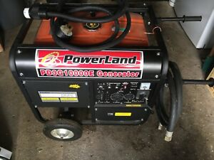 Powerland Pd3g10000e Portable Generator Tri Fuel 10k Watt 16hp W electric Start