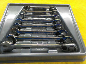 Blue Point 8pc Standard Ratcheting Wrench Set 5 16 3 4 Boer 24 Good W Tray