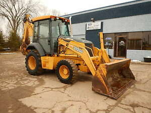 2002 John Deere 310sg 4wd Backhoe Wheel Loader Tractor E stick Diesel