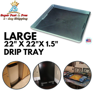Funnel King Drip Tray Chemical Resistant Oil Fuel Spill Containment Drain Pan