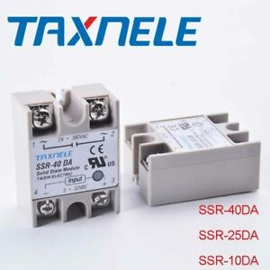 Single Phase Solid State Relay Ssr 40da Output 24 380vac Input 3 32vdc Ac To Dc