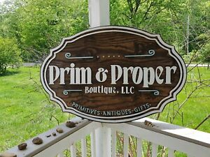 Large Wood Sign Business Sign Oval 3d Custom Antique Store Indoor Outdoor