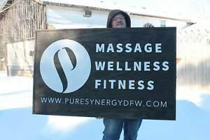 Massage Business Sign Fitness Sign Wellness Sign Large Outdoor Commercial Bu