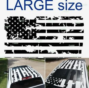 Graphics Decal American Flag Sticker On Top Roof Truck Car Van Suv Trailer