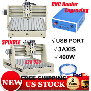 Vfd 400w 3axis Usb Cnc 3040 Router Engraver Drilling milling Motor 3d Cutter Usa