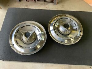 Plymouth Dodge 14 Spinner Hubcaps Set Of 2 For Mopar Usa 2266834