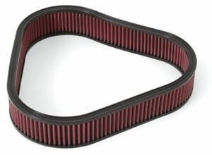 Edelbrock 4226 Triangular Air Filter Element Cotton Gauze Red