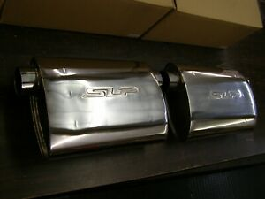 Nos Slp Stainless Steel Mufflers Powerflo 2 5 Inlet Outlet Universal App